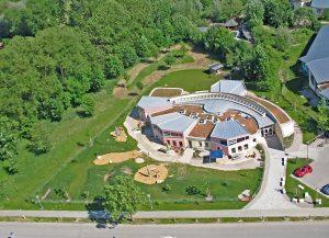 Waldorfkindergarten Ismaning Luftbild von Fotograf Sven Jungnickel
