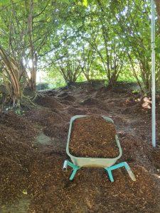 Waldorfkindergarten Ismaning Gartenkreis bei der Arbeit